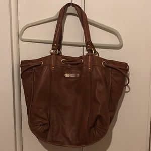 Brown leather Juicy Couture hobo bag